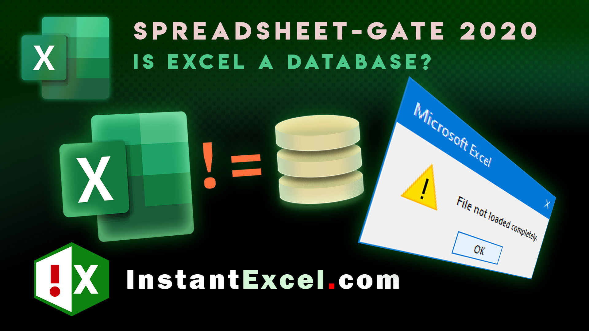 Video: Why Excel isn't a database