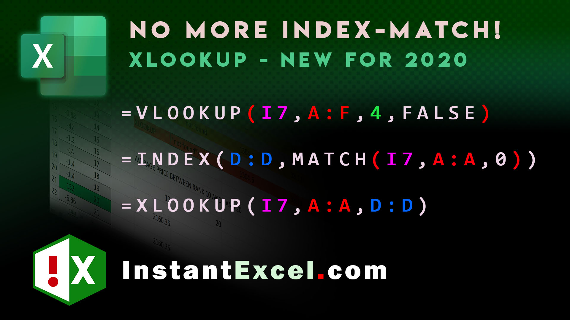 Index-Match is obsolete! Welcome to xLookUp!